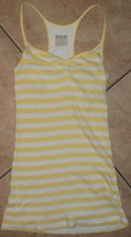 womens tank top mossimo size small racerback yellow stripes nwot - $9.41