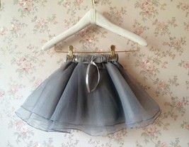 Flower Girl Skirts, Baby Tutu Skirt, Gray Infant Tulle Skirt