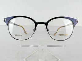 Tom Ford TF 5382 (090) Shiny Navy TITANIUM 50 x 19 145 mm Eyeglass Frames image 4