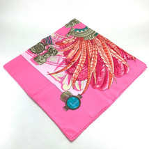 AUTHENTIC HERMES Buddha Pattern Carre 90 Scarf Pink Silk - $370.00