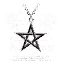 Black Star Pendant by Alchemy Gothic - $24.70