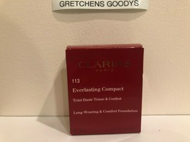 Clarins Everlasting Compact Long Wearing Foundation + #113 Chestnut NIB .3 oz - $17.12