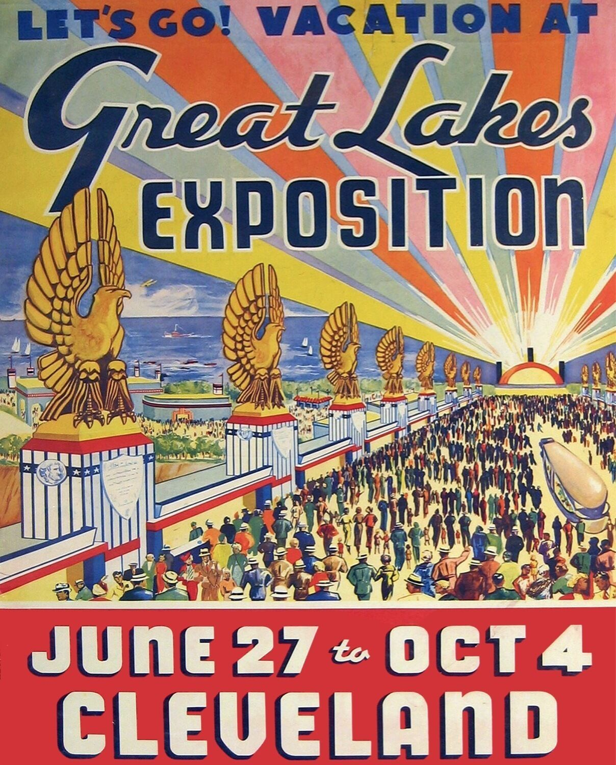 3318.Cleveland Great Lakes Exposition Travel POSTER.Home store shop art decor