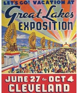3318.Cleveland Great Lakes Exposition Travel POSTER.Home store shop art ... - $10.89+