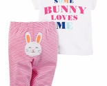 NEW NWT Carter's Girls 2 Piece Easter Bunny Set Newborn 3 6 9 Months