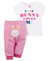 NEW NWT Carter's Girls 2 Piece Easter Bunny Set Newborn 3 6 9 Months - $14.99
