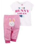 NEW NWT Carter's Girls 2 Piece Easter Bunny Set Newborn 3 6 9 Months - $21.26 CAD