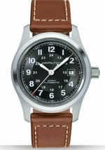 Hamilton H70555533 Men's Khaki Field 42mm Brown Leather Strap Automatic ... - $367.50