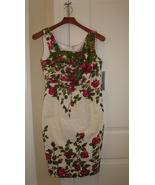 Women's Dress London Times 8P Sleeveless Flora Pattern New - $69.99