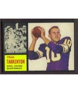 FRAN TARKENTON Rookie Card RP #90 Vikings RC 1962 T Free Shipping - $2.95
