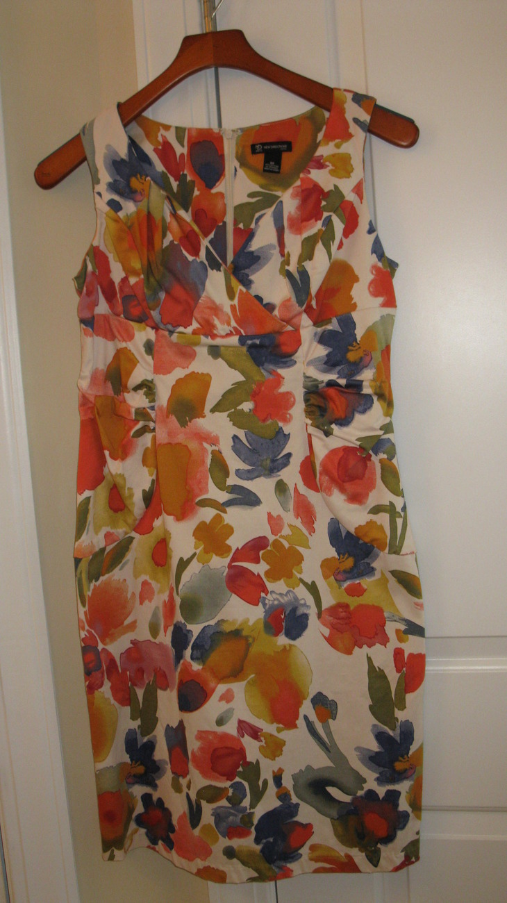 Women Dress Sleeveless Flora Pattern (Brand: New Directions) 8p