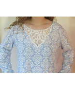 Charter Club Blue Nightgown Long Sleeve Soft Cotton Brushed Knit Gown L ... - $39.95