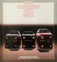 1986 Plymouth CONQUEST COLT VISTA dlx brochure catalog US 86 Mitsubishi - $10.00