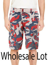 Wholesale Lot Of Men's Multi Pocket Cotton Camo Army Cargo Shorts