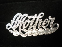 Victorian Style Signed Sterling Silver & Marcasite Mother Pin Brooch 10gm - $24.70