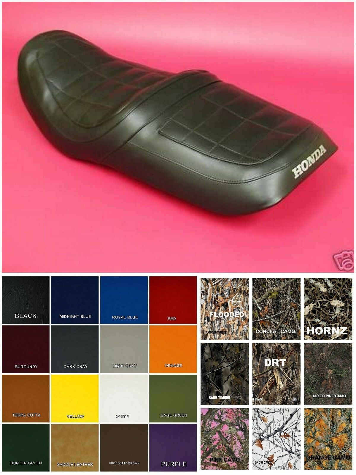 Primary image for HONDA CB650 Nighthawk Seat Cover 1982 CB650SC NIGHT HAWK in 25 Colors (ST/PS/EF)