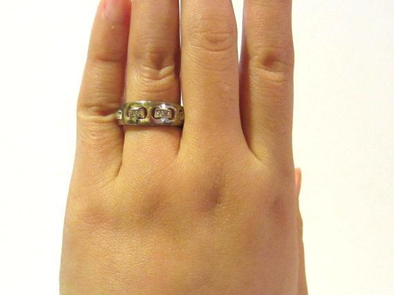 Sterling silver 925 with CZ band ring size 5.75