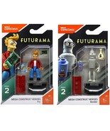 Futurama Mega Construx Heroes. Fry and Bender minifigures. - $18.99