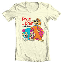 Pixie and Dixie and Mr. Jinx T shirt 1970s Saturday morning cartoon graphic tee image 2