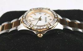 Bulova 22 Diamond Two-Tone Stainless Steel MOP Dial Ladies Watch 98R236 image 3