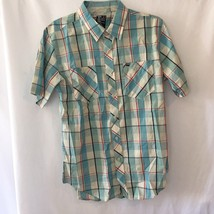 Billabong Mens Short sleeve plaid   shirt Small - $16.21