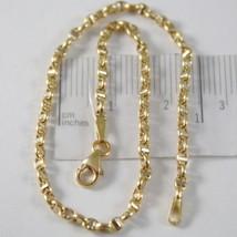 Pulsera Oro Amarillo o Blanco 750-18K, 21 cm Náuticos Travesaño Hecho en... - $210.19