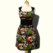Rockabilly Pin up Dress / Monsters Vintage Inspired 1950s Horror Movie P... - $65.00