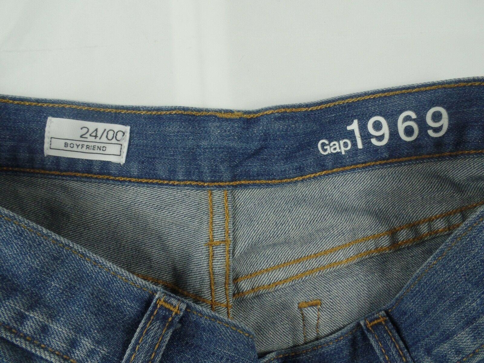 Gap Womens Jean Shorts Size 24 / 00 Boyfriend Stretch Medium Wash Denim