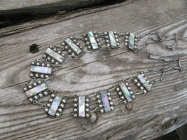 Del Rio Mexican Necklace Abalone Sterling Silve... - $300.00