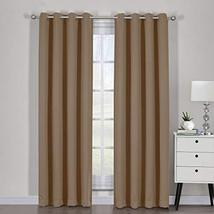 """54""""x63"""" Pair Cappuccino Blackout Weave Curtain Panels with Tie Backs Pai... - $49.50"""