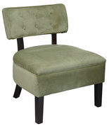 Avenue Six Button Back Living Room Armless Accent Chair Spring Green Fabric - $149.00