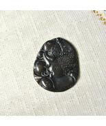Dark Brown Agate fish Pendant, Focal Bead, 47mm x 39mm - $7.50