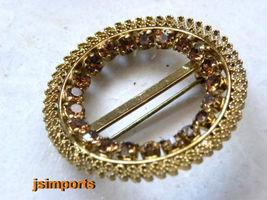 """Vintage Brooch """"Austria""""Crystal Signed,Goldtone... - $21.86"""