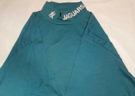 Jacksonville Jaguar Long Sleeve Wide collar T-Shirt Medium NFL White Emb... - $14.24