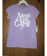"""NIKE Girls' """"Ahead of the Game"""" Graphic T-Shirt, Size Small, Purple Colo... - $12.86"""