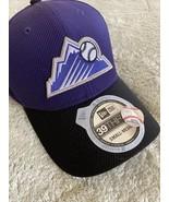 NEW 39thirty New Era Colorado Rockies Baseball Purple Embroidered Hat Fi... - $21.77