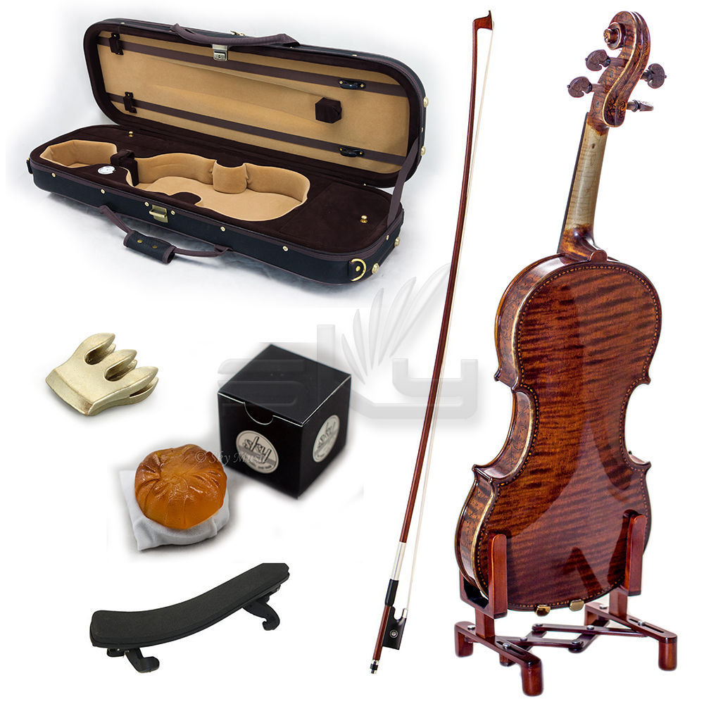 High Quality SKYVN623 Full Size Hand Carved Artist Violin Antique Style