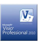 Microsoft Visio 2010 professional 32/64 bit activation key code Legit Li... - $24.99