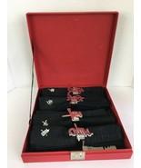 Black Cloth Napkins & Rings Set of 4 Display Box Asian Peace Joy Love Ha... - $34.64
