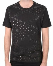 Versace Collection Geometric Studded Embellished Men's Tee NWT
