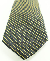 New Mens Calvin Klein Glimmer Border Stripe Silk Blend Neck Tie $65 - $13.85