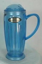 2001 Starbucks Barista Rocket Tumbler coffee mug 16 fl oz Blue Plastic s... - $22.36