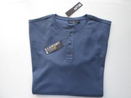 APT.9 LUXURY Short Sleeve Crewneck Men's Henley T-Shirt INDIGO SKY XL MS... - $14.00