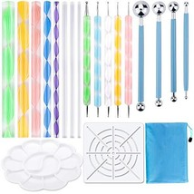 19PCS Mandala Dotting Tools Set Pen Dotting Tools Mandala Stencil Ball S... - $13.59