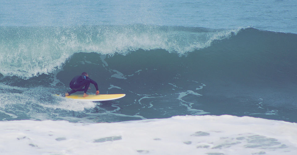 """Paragon Lil Dipper 6'11"""" White -Turquoise Rails Surfboard"""
