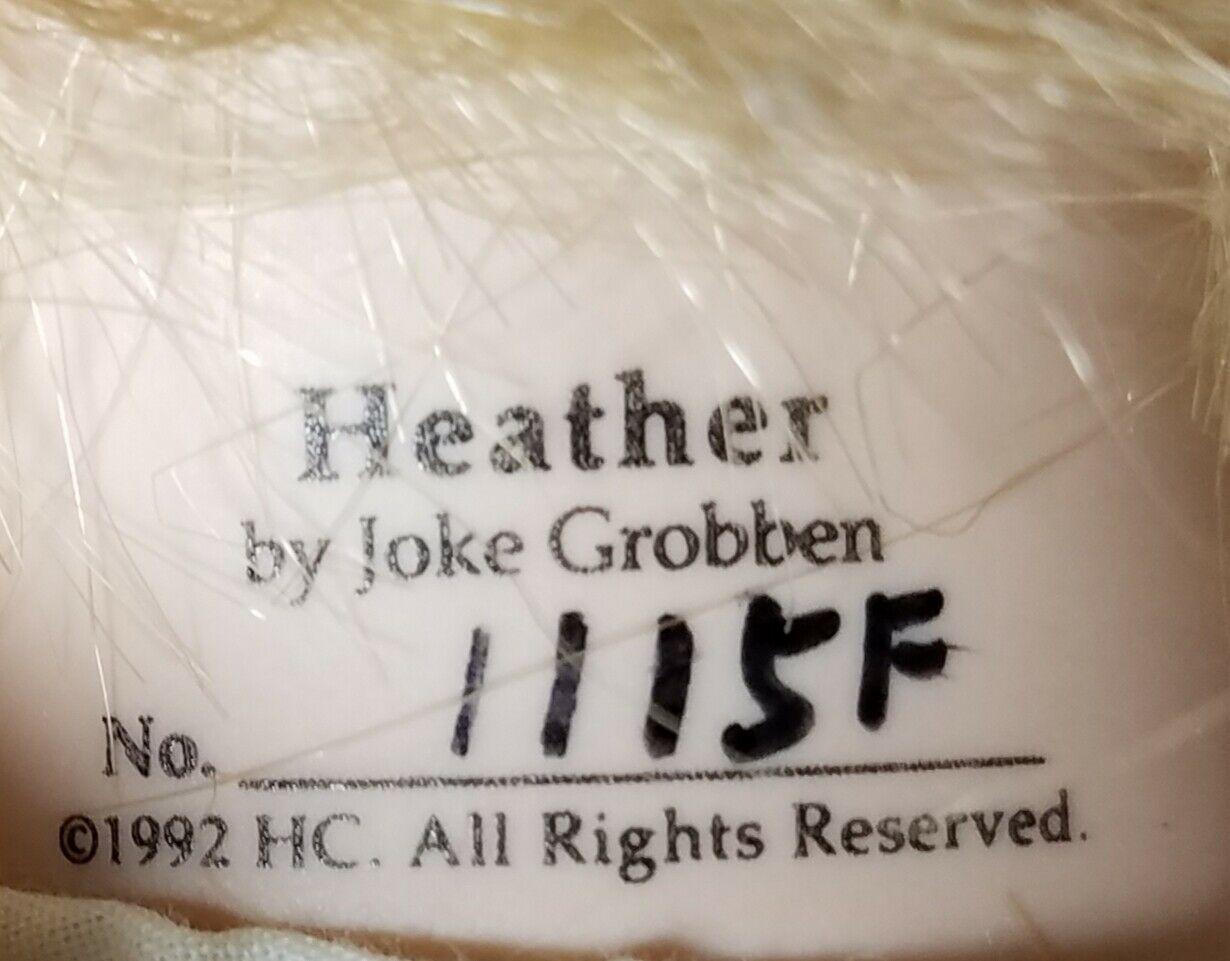 """Hamilton Collection 1992 Heather Porcelain Doll Original by Joke Grobben 18"""" COA"""