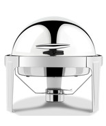 6 Quart Stainless Steel Round Roll Top Chafer Chafing Dish - $115.36