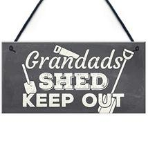 Meijiafei Grandads Shed Workshop Garage Hanging Garden Plaque Gifts for ... - $12.34