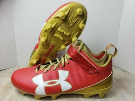 Under Armour Football Cleat Red And Gold 3000238- 600 Size 14 - $23.26