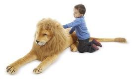Giant Lion Stuffed Big Toy Animal Large Realistic Huge Plush Gift Kids C... - $92.73